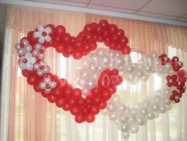 фото украшения из шаров свадьба